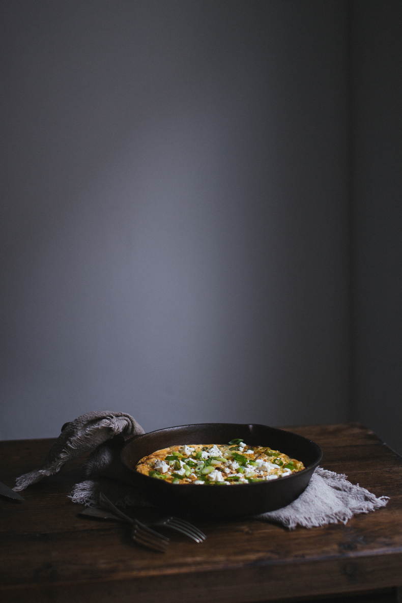 Broad Beans and Leek Frittata by Tanya Balyanitsa (Honeytanie.com)