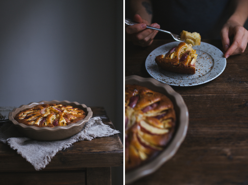 Glazed White Nectarine Cake by Tanya Balianytsia (more seasonal recipes on Honeytanie.com)