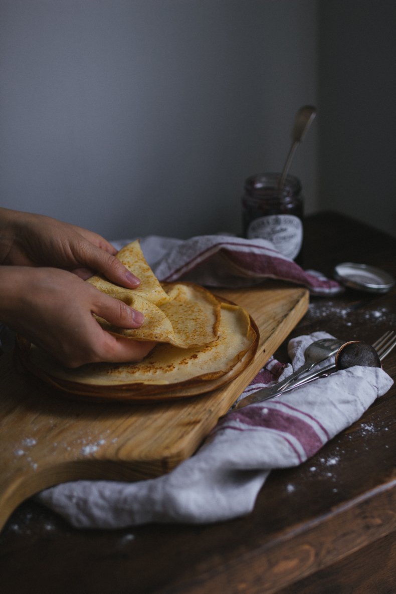 Buttermilk Crepes by Tanya Balyanitsa (more recipes on Honeytanie.com)